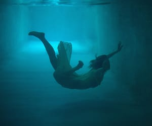 blue, dive, and dress image