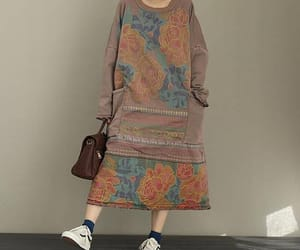etsy, loose, and cotton dress image