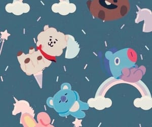 wallpaper, bts, and bt21 image