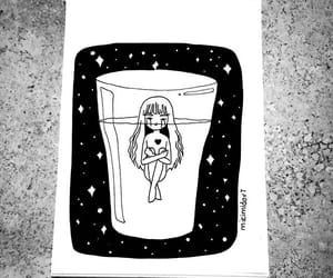 dibujos, ilustraciones, and stars image