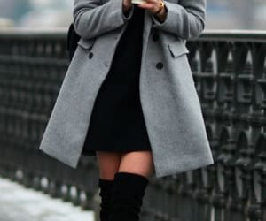 fashion, boots, and coat image