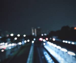 blurred, city, and city light image