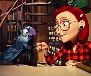 bird, cartoon, and parrot image