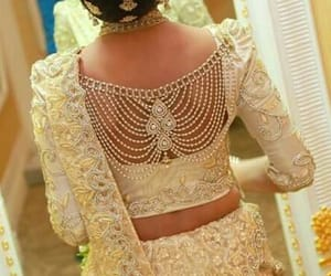 saree blouse designs, fashion in india, and jewelled saree blouse image