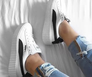 puma, white, and sneakers image