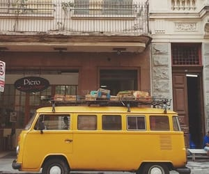 yellow, aesthetic, and van image
