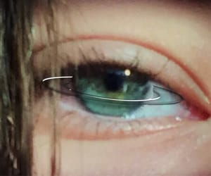 aesthetic, eye, and green image