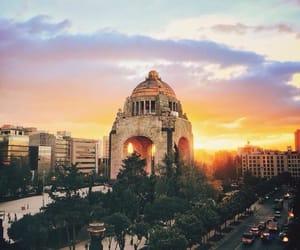 atardecer, monumento, and méxico image