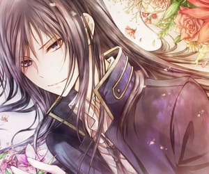 anime, flowers, and man image