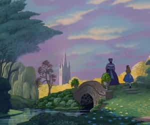 disney, wallpaper, and alice in wonderland image