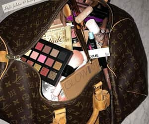 makeup, beauty, and bag image