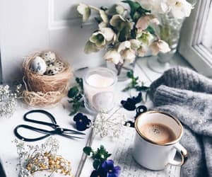 coffee, easter, and eggs image