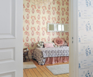 pink and blue, room, and cute image