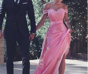 dress, couple, and pink image
