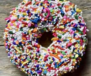 donut, sprinkles, and doughnut image