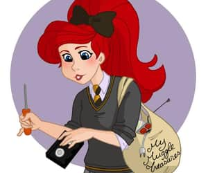 ariel, disney, and harry potter image