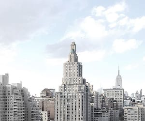 city, building, and white image