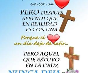 amor, cruz, and frases español image