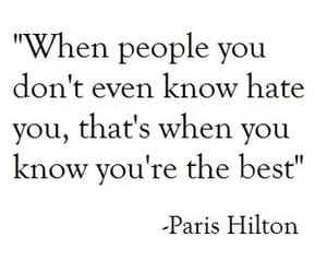 quotes, paris hilton, and hate image
