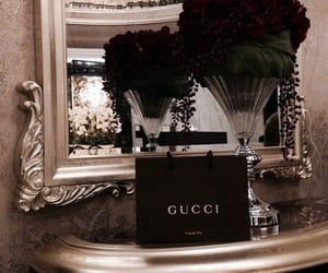 gucci, luxury, and flowers image
