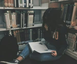 girl, book, and alternative image