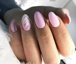 nails, pink, and spring image