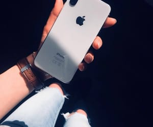 apple, blue jeans, and iphone x image