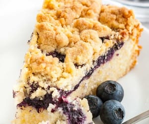 blueberry, breakfast, and cake image