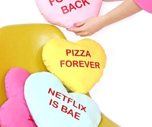 pizza forever and heart pillows image