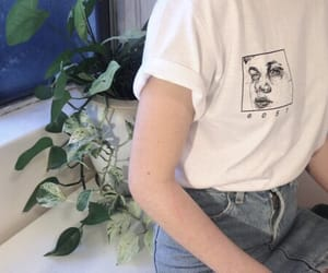 grunge, pale, and plants image