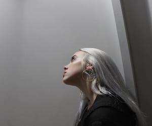aesthetic, girl, and grey image