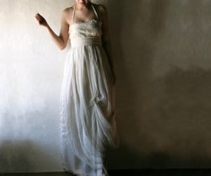 etsy, plus size, and beach wedding dress image
