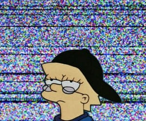 aesthetic, the simpsons, and glitch image