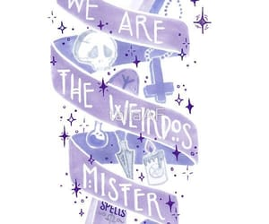 purple, quotes, and weird image