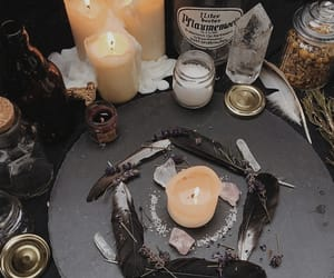 candle, magic, and plume image