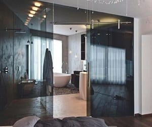 bedroom, bathroom, and home image