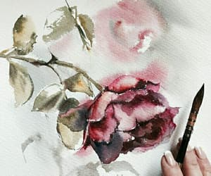 art drawings, flowers animals, and watercolor paint image