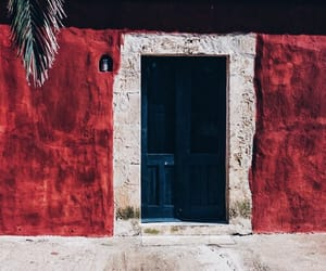 red, theme, and door image