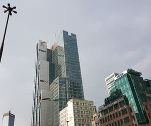 city, sky, and skyscrapers image