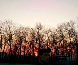 boy, sunset, and love image