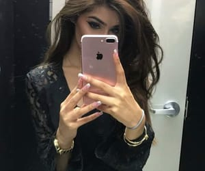 brown hair, nails, and style image