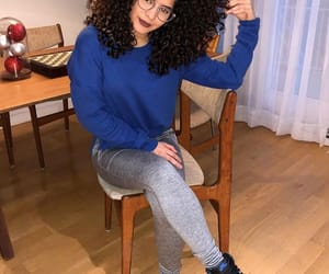 curls, outfit, and style image