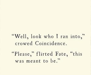 fate, coincidence, and quotes image