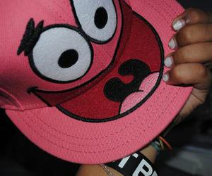 patrick, pink, and cap image