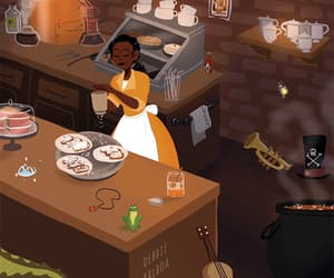 gif, princess and the frog, and tiana image