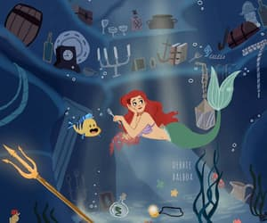 ariel, drawing, and gif image
