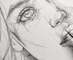 art, artist, and draw image