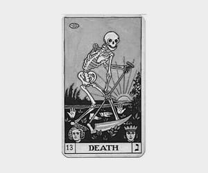card, death, and skeleton image