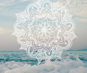 wallpaper, mandala, and sea image