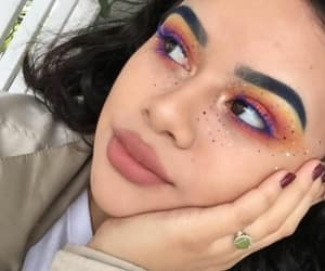 colorful, eyebrows, and flawless image